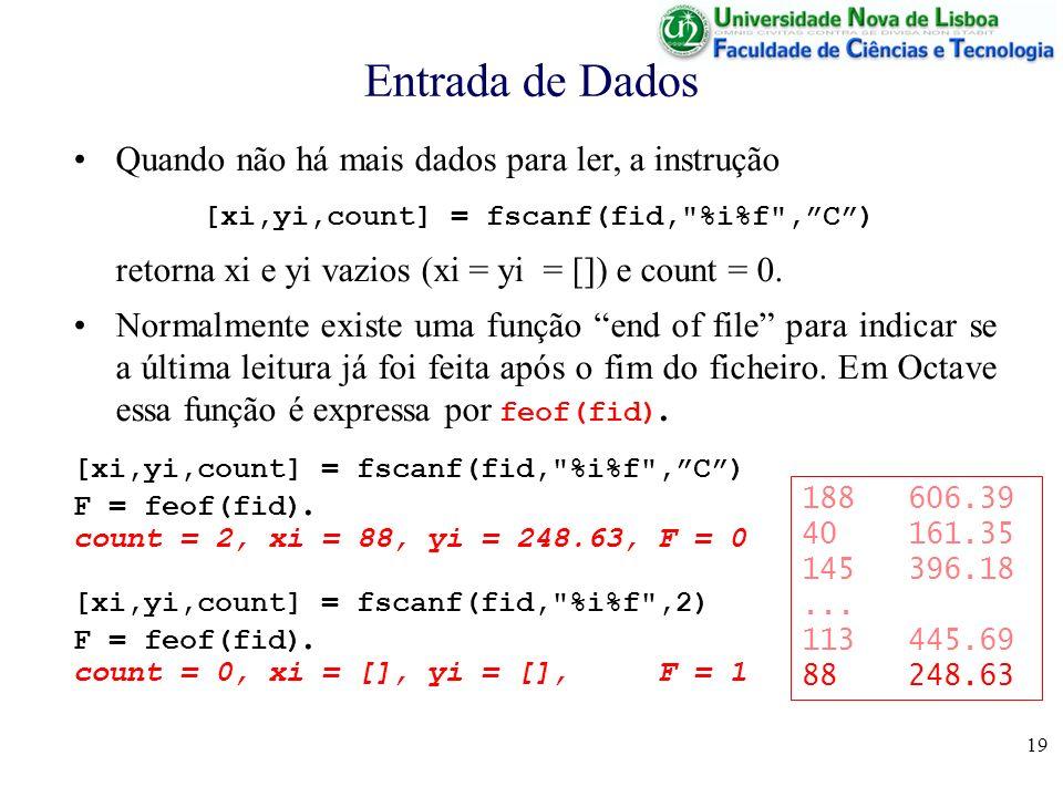 [xi,yi,count] = fscanf(fid, %i%f , C )